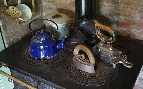 Cooking Zone, Stove, Antique, Cook, Old Kitchen Stove
