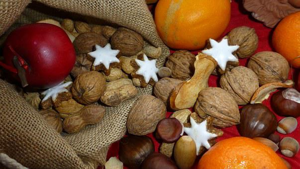 Advent, Apple, Nuts, Zimtstern, Orange, Bag, Deco