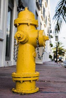Fire, Water, Fire Hydrant, Danger, Flames, Hose