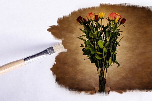 Paintbrush, Flower, Flowers, Wallpaper, Rose, Floral