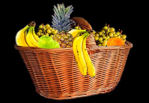 Fruit Basket, Fruits, Fruit, Isolated, Eat, Food