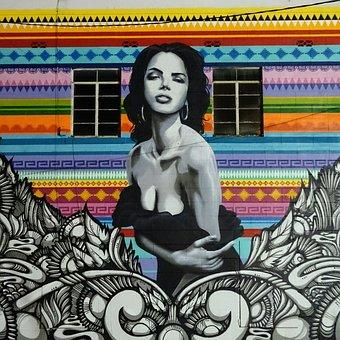 Woman, Painting, Street Art, Grafiti, Female, Girl
