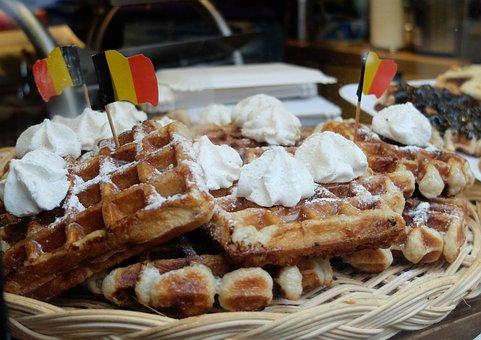 Waffle, Belgium, Gluttony, Cream, Taste, Chantilly
