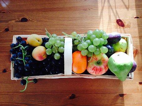 Fruit, Fruits, Grapes, Apple, Pear, Plums, Apricots