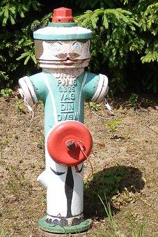 Hydrant, Males, Red, Green, Fire Delete
