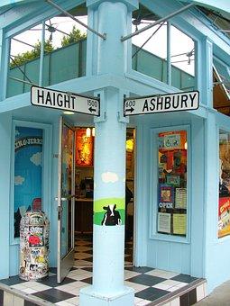 Haight Ashbury, Intersection, Francisco, Famous, Haight