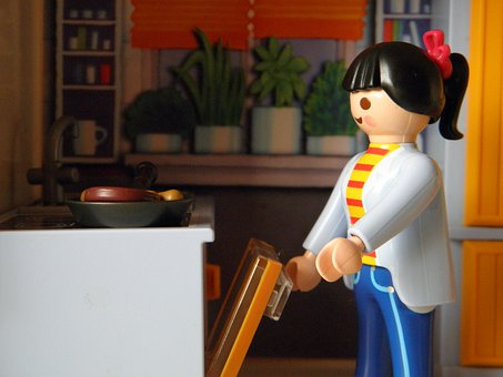 Playmobil, Kitchen, Toys, Play, Cook, Woman