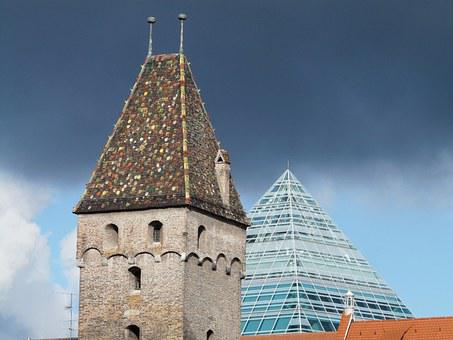 Metzgerturm, Ulm, City View, City, Building