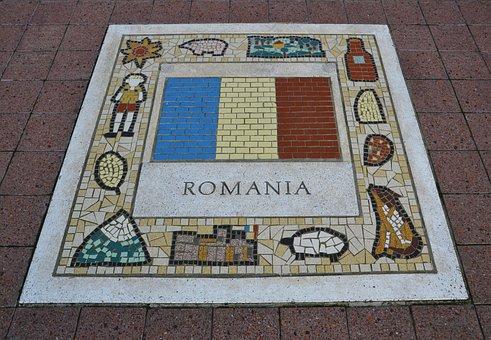 Romania, Team Emblem, Flag, Nation, Team, Emblem