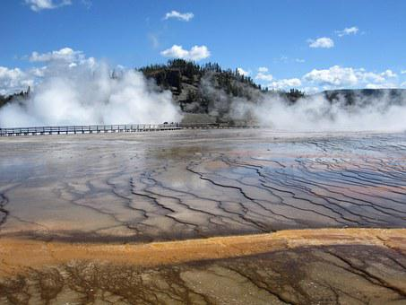 Yellowstone, National Park, Usa