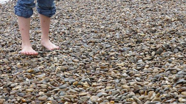 Barefoot, Pebble, Foot, Toes, Wet, Stones, Pubs