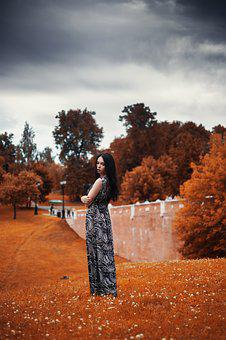 Photoshoot, In The Fall Of, Posture, Girl, Long Hair