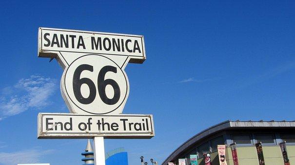 Route 66, Santa Monica, United States, Signal, Poster