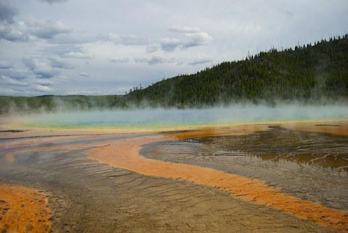 Grand, Prismatic, Yellowstone, Spring, Hot, National