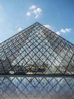 Louvre, Pyramide, Street Lamp, Glass Pyramid, Museum