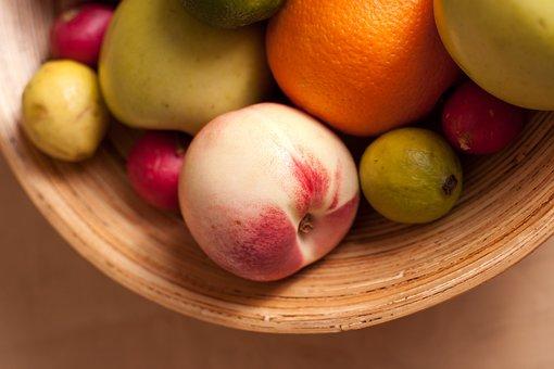 Fruits, Basket, Guava, Apple, Radish, Green, Red