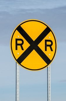 Railroad Crossing Sign, Sign, Railroad, Rail, Road