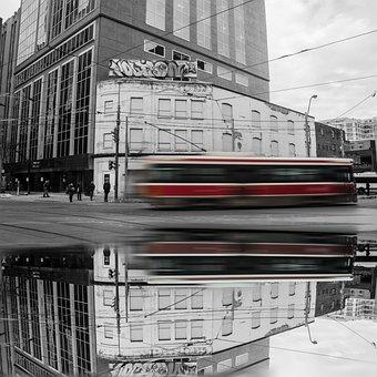 Ttc, Toronto, Ontario, Canada, City, Cityscape, Red