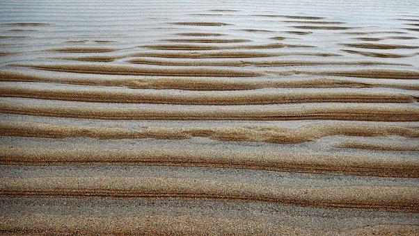 Ripples, Sand, Pattern, Line, Ridge, Beach, Rippled
