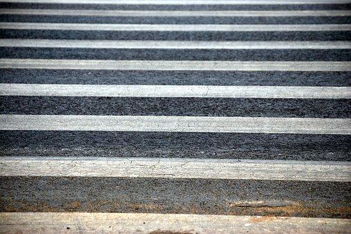 Crosswalk, Crossing, Safety, Stripes, Warning, Street