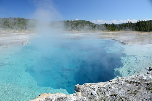 Sapphire Pool, Thermal Feature, Yellowstone, Water
