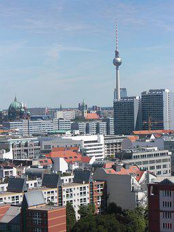Berlin, Tv Tower, Germany, Cityscape, Skyline