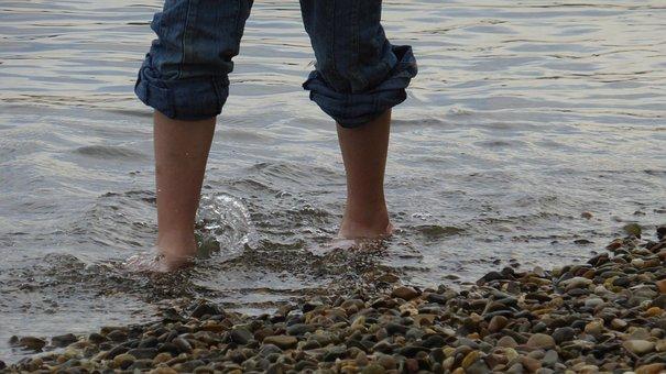 Water, Wet, Barefoot, Stones, Pebble, Pubs