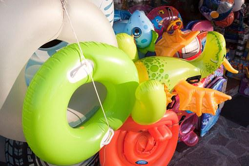 Swimming Ring, Aquatic Animals, Inflatable, Green