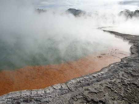 Thermal Water, Wai-o-tapu, Volcanic Lake