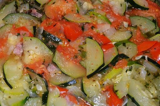 Salad, Vegetables, Food, Zucchini, Tomatoes