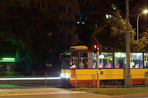 Tram, Transport, Communication, Rails, Tracks, Traction