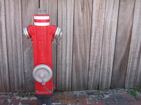 Hydrant, Water, Fire, Metal, Red