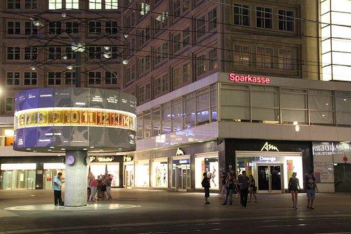 World Clock, Berlin, Architecture, Alexanderplatz
