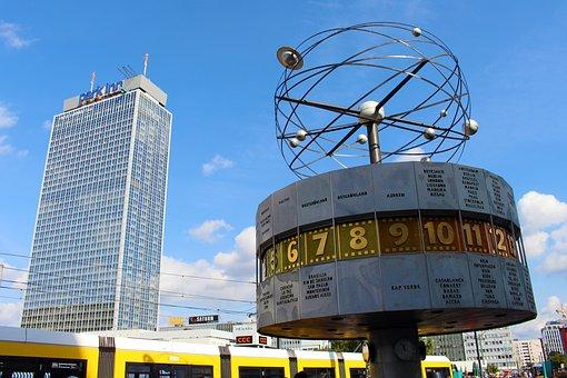 World Clock, Berlin, Alexanderplatz, Clock, Landmark