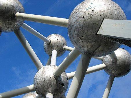 Brussels, Atomium, Steel, Belgium, Installation, Art