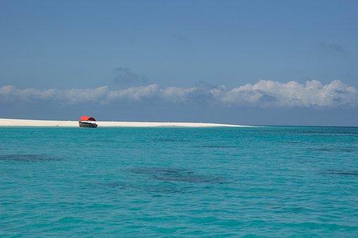 Background, Beach, Blue, Caribbean, Costa, Concept