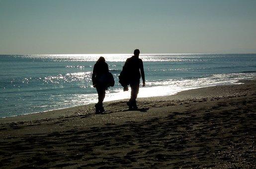 Sea, Beach, Couple, Ballad, People, Sand