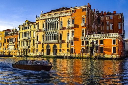 Venice, Venezia, Canal, Canale, Boat, Architecture