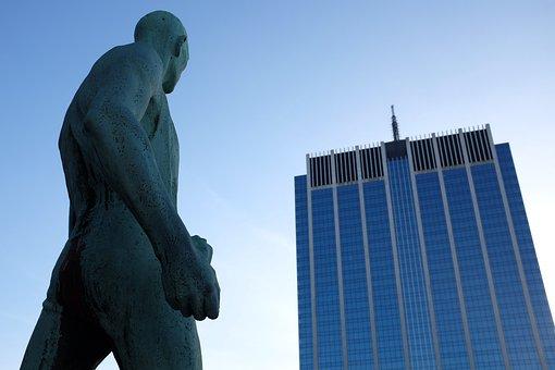 Entreprenør, Building, Man, City