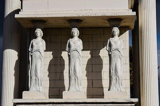 Caryatid, Column, Classical, Greek, Decorative, Cyprus