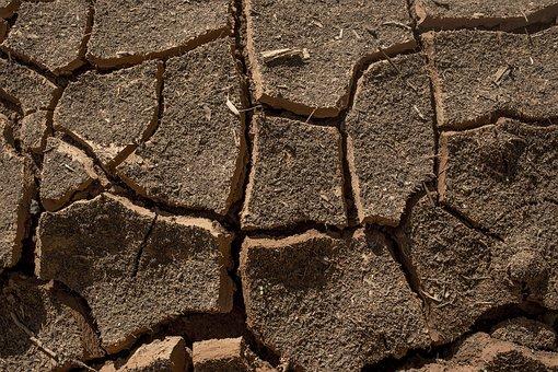Ground, Dry, Earth, Cracks, Desert, Survade, Hit