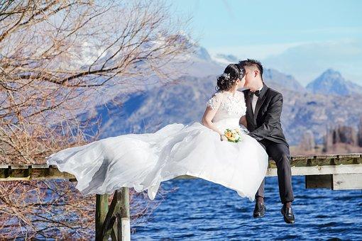 Love, New Zealand, South, Queenstown, Lake, Prewedding
