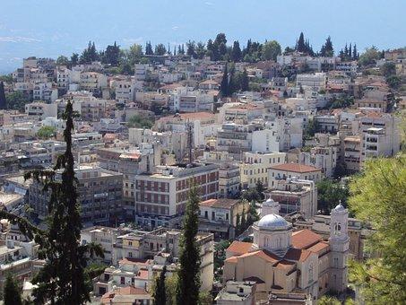 Lamia, Greece, Europe, Town