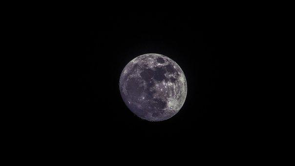 Moon, Bright, Sky, Night, Astronomy, Satellite, Shiny