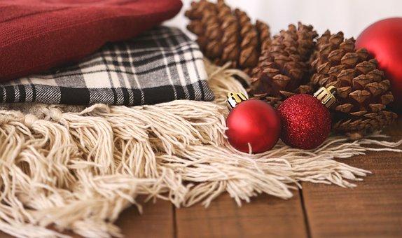 Winter, Christmas, Flatlay, Pine Cone, Rustic, Holiday