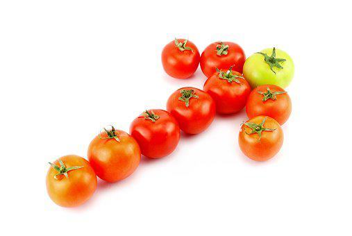 Leader, Tomato, Food, Vegetable, Green, Red