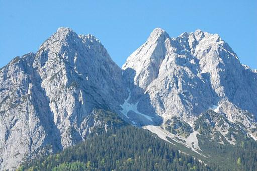 Mountains, Alpine, Waxenstein