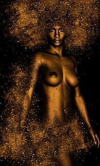 Woman, Naked, Act, Skin, Art, Body, Female, Erotic