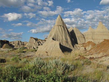 Badlands, Fossils, Erosion, Landscape, Alberta, Canada