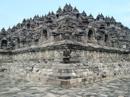Corner, Borobudor, Temple